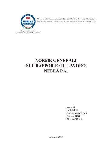 Vol. Norme Generali - Uilpa-Ur