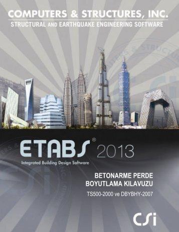 ETABS 2013 Betonarme Perde Boyutlama Klavuzu TS500-2000 ve ...