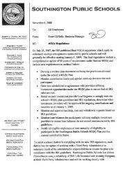 information regarding 403(b) - Southington Public Schools