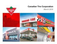 Investor Presentation - March 2010 - Canadian Tire Corporation