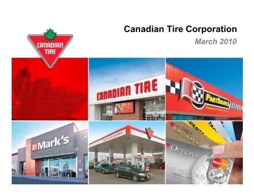Investor Presentation - March 2010 - Canadian Tire Corporation
