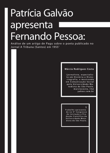 Patrícia Galvão apresenta Fernando Pessoa: - Faculdade Social
