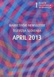 APRIL 2013 - RTV Slovenija