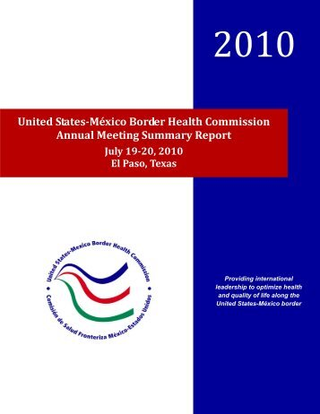 Healthy Border Midterm Review - United States - Mexico Border ...