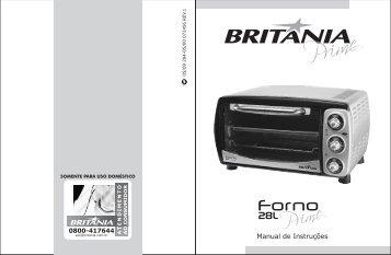 284 05 00 Rev1 Folheto de Instruções Forno 28L Prime - Britânia