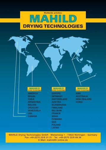 MAHILD Prospekt - MAHILD Drying Technologies