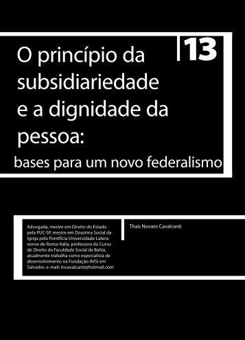 O princípio da subsidiariedade e a dignidade da ... - Faculdade Social