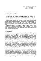 Nak³ady na badania i rozwój w Polsce na tle wybranych państw ...