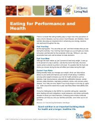 Eating for Performance and Health - Wellness