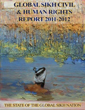 Global Sikh Civil & Human Rights Report 2011-2012 - United Sikhs