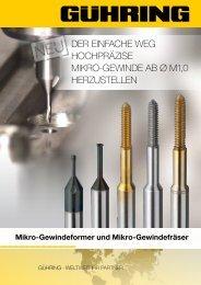 mikro-gewindefräser - Gühring oHG