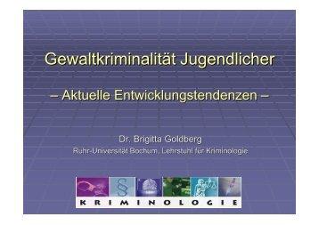 Gewaltkriminalität Jugendlicher - brigitta-goldberg.de