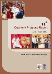 11th Quarterly Progress Report.pdf - Bihar Rural Livelihood ...