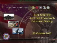 Unclassified Command Brief October 2012 - Joint Task Force North