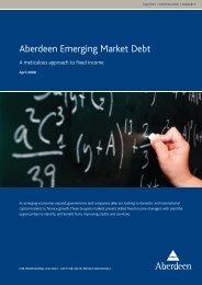 Aberdeen Emerging Market Debt - Aberdeen Asset Management