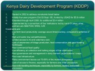 Kenya Dairy Development Program (KDDP) - Dairy Sustainability ...