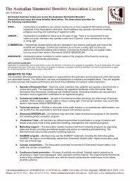 membership application form - Simmental Australia