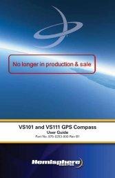 Product Name VS101 and VS111 GPS Compass