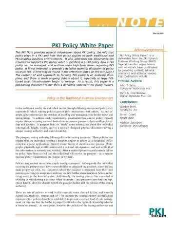 pki policy web - oasis pki
