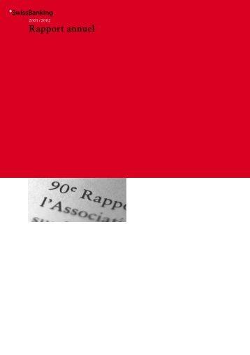 Rapport annuel - Association suisse des banquiers