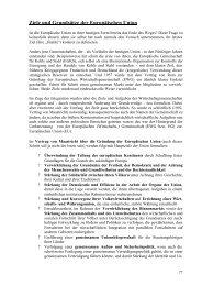 Ziele und Grundsätze der Europäischen Union - Examen Europaeum