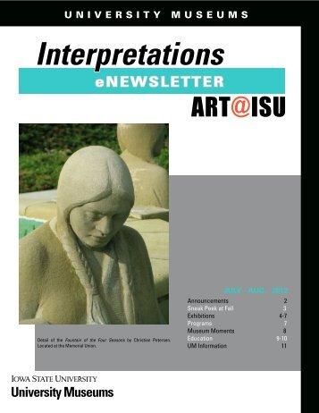 July/August 2012 - University Museums - Iowa State University