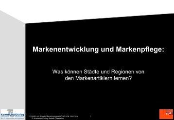 Stadt als Marke - Markt und Standort Beratungsgesellschaft mbH