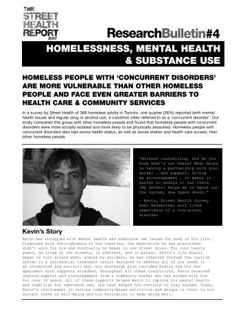 Homeless, Mental Health & Substance Abuse - St. Michael's Hospital