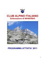 CAI MANERBIO - Calendario attività 2011
