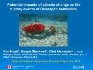 Effects of climate variation and change on Okanagan salmon