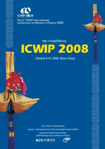 icwip 2008 - IUPAP Working Group on Women in Physics