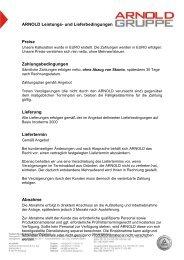 ARNOLD Leistungs- und Lieferbedingungen Preise ... - Arnold Gruppe