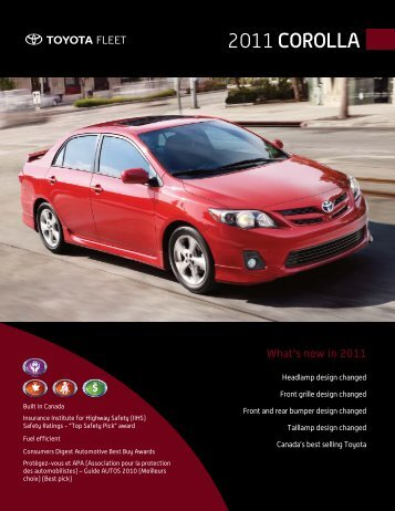 2011 Corolla - Toyota Canada