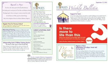 Weekly Bulletin - St. Paul's Episcopal Church