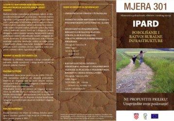 letak IPARD - Mjera 301 - Ministarstvo poljoprivrede
