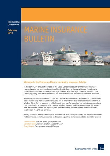 MARINE INSURANCE BULLETIN - HFW