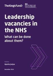 leadership-vacancies-in-the-nhs-kingsfund-dec14