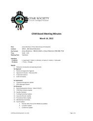Board meeting - March 14, 2012 - CFAR Society