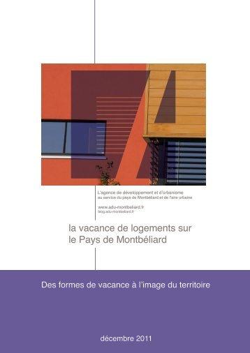 la vacance de logements sur le Pays de Montbéliard - ADU