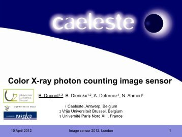 Color X-ray photon counting image sensor