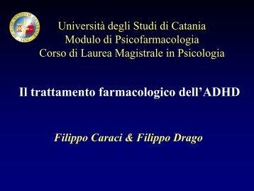 Metilfenidato - Università degli Studi di Catania