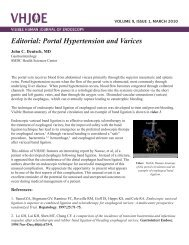 Editorial: Portal Hypertension and Varices