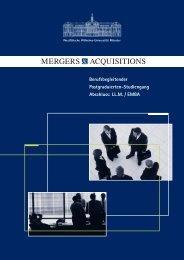 Berufsbegleitender Postgraduierten ... - M&A Alumni Deutschland eV