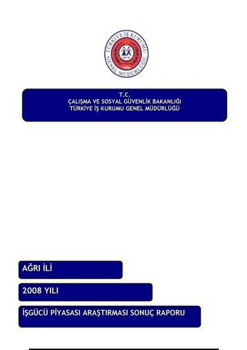 2008 YILI AĞRI L - Türkiye İş Kurumu