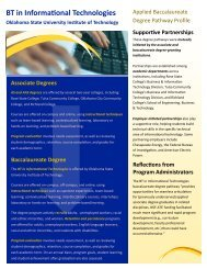 BT in Informational Technologies - Office of Community College ...