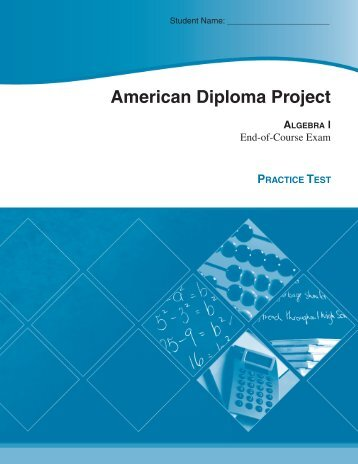 ADP Algebra I Practice Test - Achieve