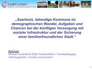 Saarlouis, lebendige Kommune im demographischen Wandel
