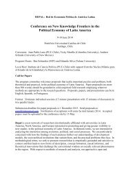 Conference on New Knowledge Frontiers in the Political Economy of ...