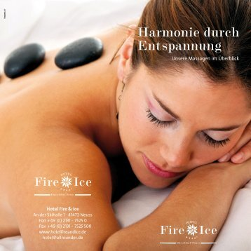 Massagen - Harmonie durch Enstpannung [pdf] - Hotel Fire & Ice ...