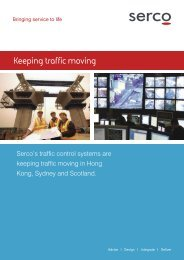 Traffic Control Systems - Serco